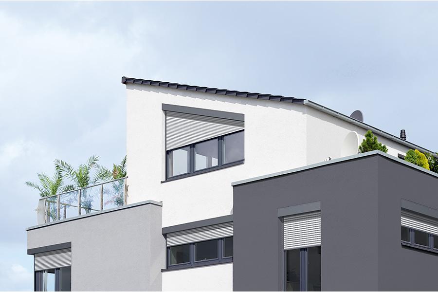 Sonnenschutz f r asymmetrische fenster hoffmann sonnenschutztechnik - Moderne fensterformen ...